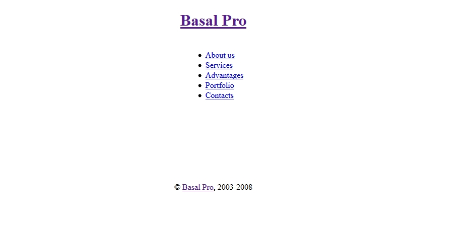 Screen Basalpro.eu
